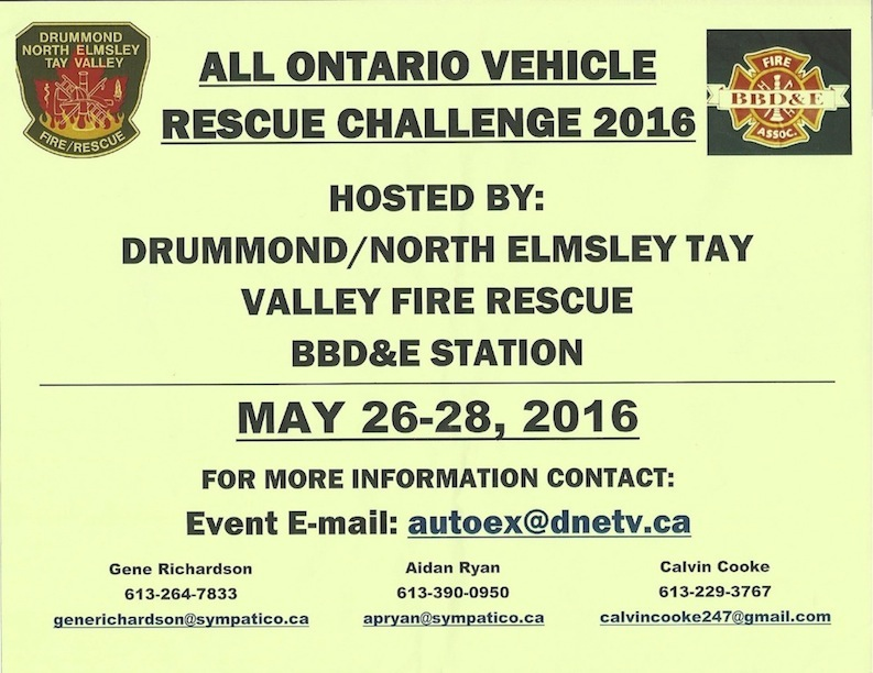 ALL ONTARIO VEHICLE RESCUE CHALLENGE 2016